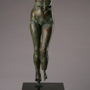 Entitled Hornet M93, this is a photo of a fragment of a one-quarter life size bronze sculpture. Depicted is a standing of a nude female figure missing her feet, arms and head. By sculptor Blake Ward.