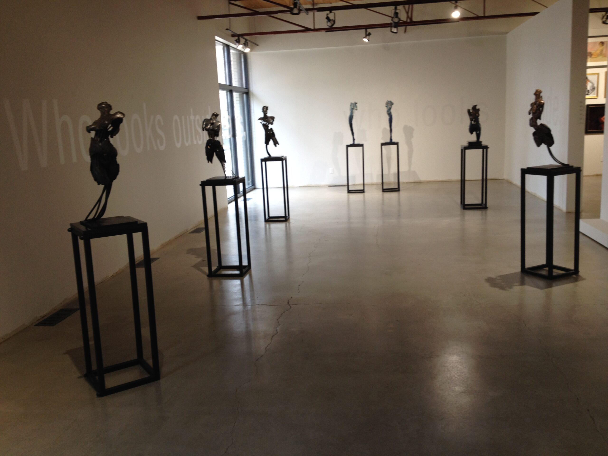 Photo of an exhibition of sculpture at The Front Gallery in Edmonton Alberta Canada by Blake Ward Blake Sculpture