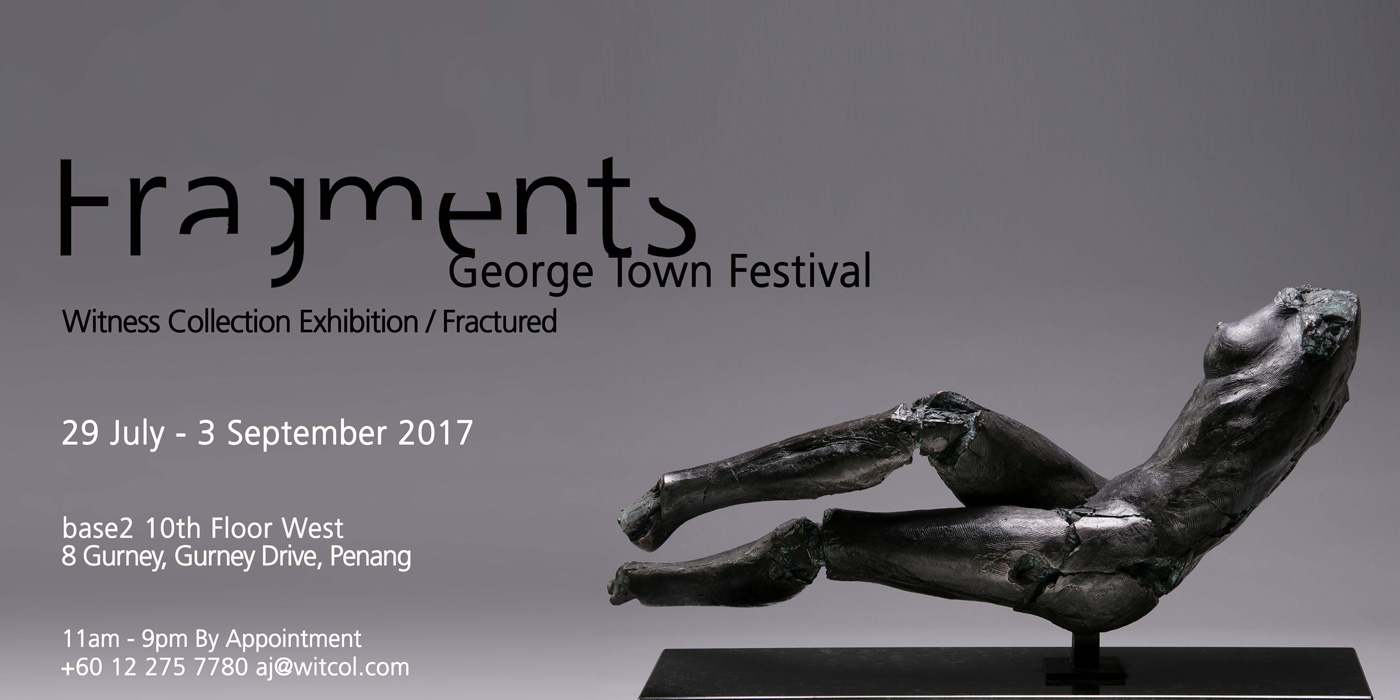Invitation for Fragments Exhibition George Town Festival Penang Malaysia 2017 by Blake Ward