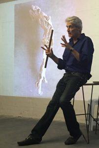 A photo of Blake Ward teaching a lecture